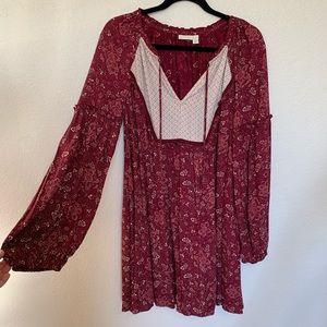 Hinge fall flowy dress